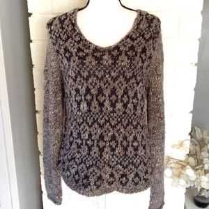 LOFT Wool Alpaca Blend Metallic Knit Sweater